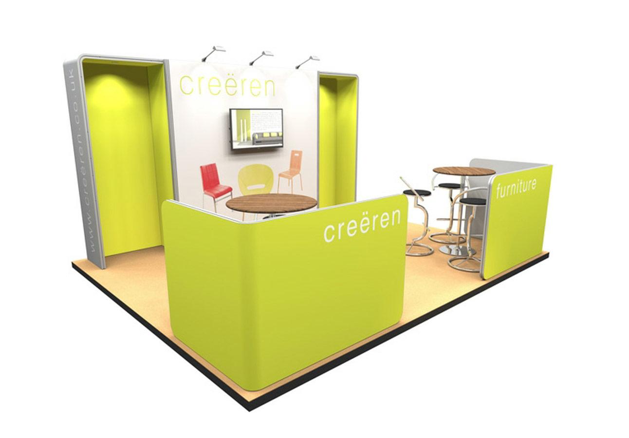 modular exhibition stand cheap 8